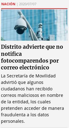 20200705 distrito advierte que no notífica fotocomparendos por e-mail