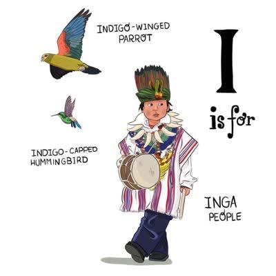 abecedario colombiano i de gente inga indigo winged parrot indigo capped hummingbird