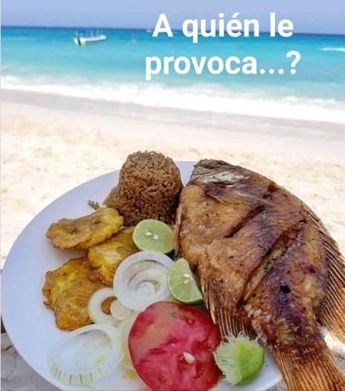 delicioso almuerzo de playa a quien le provoca