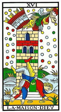 la torre xvi tarot de marsella carta 16