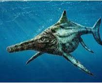 lagarto arcaico parecido al delfin es el ictiosaurio