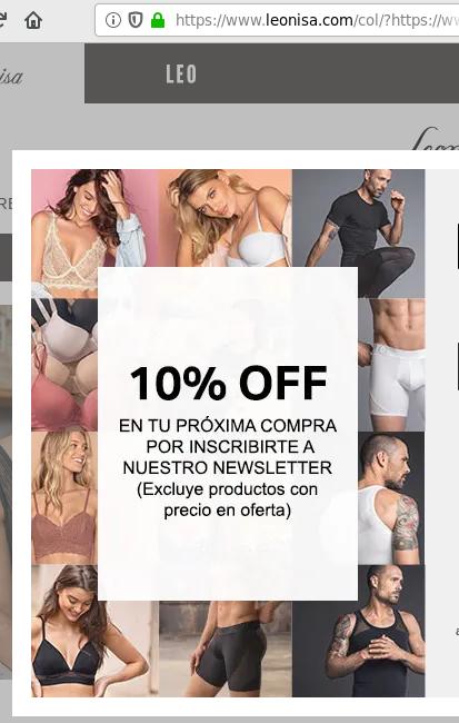 www.leonisa.com tienda virtual ropa interior tapabocas